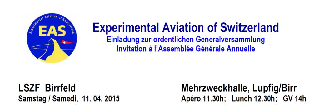 EAS GV 2015 Einladung