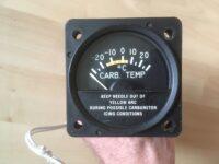 Carburetor Temperature Indicator and Sensor