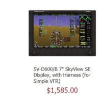 """Dynon SkyView  SV-D600/B7"""" SE inkl. Kabelstrang"""